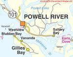 Powell River Map